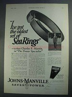 1927 Johns-Manville Sea Ring Packing Ad - Oldest Set