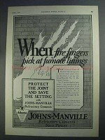1927 Johns-Manville No. 31 Refractory Cement Ad
