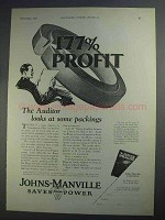 1927 Johns-Manville Sea Ring Packing Ad - The Auditor
