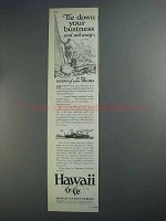 1927 Hawaii Tourism Ad - Tie Down Your Business