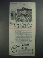 1927 San Diego Tourism Ad - Every Day is Springtime