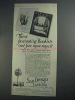 1927 San Diego Tourism Ad - Fascinating