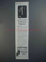 1927 California Tourism Ad - Giant Redwoods On Trip