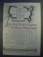 1927 Los Angeles California Ad - Western Market Center