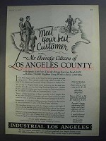 1927 Los Angeles California Ad - Meet Best Customer