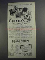 1927 Canadian National Railway Ad - Vacation Lands