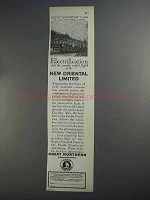 1927 Great Northern Railway Ad - New Oriental Limited