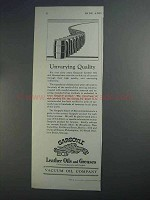 1927 Gargoyle Leather Oils and Greases Ad - Quality