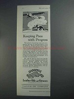 1927 Gargoyle Leather Oils and Greases Ad - Progress