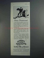 1927 Gargoyle Leather Oils and Greases Ad - Penetrate