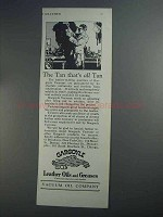 1927 Gargoyle Leather Oils and Greases Ad - The Tan