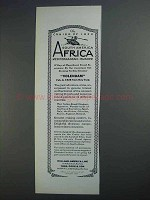 1927 Holland-America Line Ad - South America Africa
