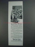 1927 French Line Ad - Spend Your Winter