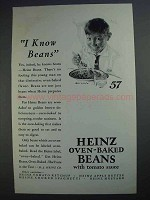 1927 Heinz Oven-Baked Beans Ad - I Know Beans