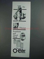 1927 O-Cedar Polish Ad - For Cleaner Furniture and Wood