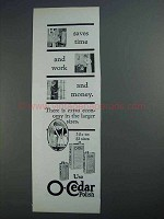 1927 O-Cedar Polish Ad - Saves Time and Work and Money