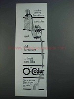 1927 O-Cedar Polish Ad - Makes Furniture Prettier