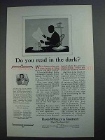 1927 Rand McNally Ad - Do you Read in The Dark?