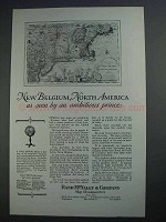 1927 Rand McNally Ad - New Belgium, North America