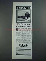 1927 Orlando Florida Ad - Playground of Central Florida