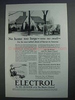 1927 Electrol Oil Burner Ad - No Home Too Large