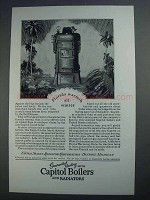 1927 Capitol Boilers and Radiators Ad - Florida Warmth