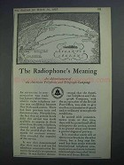 1927 Bell Telephone Ad - The Radiophone's Meaning