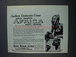 1927 Red Star Line Cruise Ad - Southern Continents
