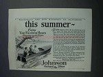 1927 Johnson Aquaflyer Boat Ad - This Summer