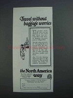 1927 Insurance Company of North America Ad - Baggage