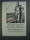 1927 Tuberculosis Associations Christmas Seals Ad