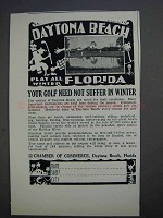 1927 Daytona Beach Florida Ad - Golf Need Not Suffer