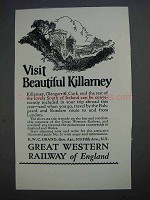 1927 Great Western Railway of England Ad - Killarney