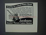 1927 Jacobsen Junior Power Lawn Mower Ad - Quality