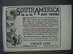 1927 Grace Line Ad - South America 18 to 81