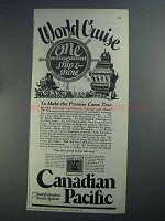 1926 Canadian Pacific Cruise Ad - One Management