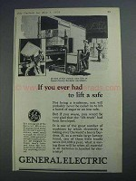 1926 General Electric Ad - You Ever Had to Lift a Safe