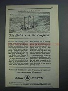 1926 Bell Telephone Ad - The Builders of the Telephone