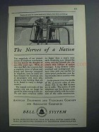 1926 Bell Telephone Ad - The Nerves of a Nation