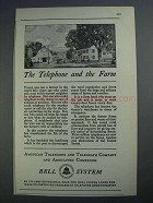 1926 Bell Telephone Ad - The Telephone and the Farm