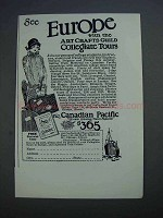1926 Canadian Pacific Ad - See Europe