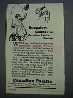 1926 Canadian Pacific Ad - Come Along Up!