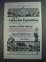 1915 Northern Pacific Ad - California Expositions