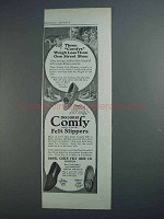 1915 Daniel Green Felt Slippers Ad - Three Comfys