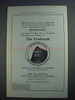 1915 Prudential Insurance Ad - The Greatest Amount