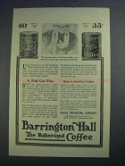 1915 Baker's Steel Cut & Barrington Hall Coffee Ad