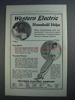 1915 Western Electric Inter-Phone and Vacuum Cleaner Ad