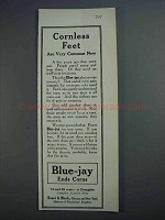 1915 Bauer & Black Blue=jay Plaster Ad - Cornless Feet
