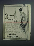 1915 Pond's Vanishing Cream Ad - Opera or Dinner