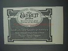 1915 Everett Piano Ad - Leads in Tone Quality